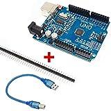 Ociodual UNO R3 ATmega328p CH340G 100% Compatible con Arduino + Pines +Cable Envio España