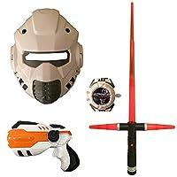 Beamz Delightful Toys Space Wars Light Up Weapon Set [Gun, Sword, Mask & Disk Shooter]