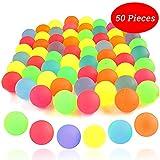 Bouncy Ball - 50 Palline di Gomma Colorate al Neon Tinta Unita, Palline Rimbalzanti 25mm Usate Come Riempitrici per Borse da Party per La Ricreazione E Premi per I Bambini