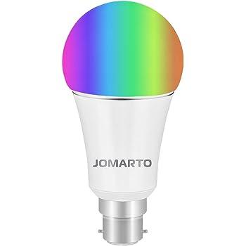 wifi smart bulb jomarto b22 bayonet 9w smart led bulb compatible with alexa google home and. Black Bedroom Furniture Sets. Home Design Ideas