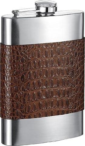 Visol Bensimon Leather Liquor Flask, 8-Ounce, Cognac by Visol