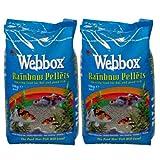 20kg Webbox Rainbow Pellets Floating KOI CARP & All Pond Fish Food