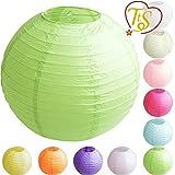 Time to Sparkle TtS 1/5/10pcs Round Paper Lanterns Lamp Shade Wedding Decoration 20/25/30/35/40CM & 16 Colours Option
