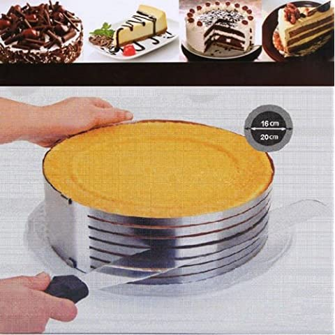 Baking Mats Stainless Adjustable Size Mousse Expandable Split Pastry Cake Ring Fondant Mould by Baking Molds