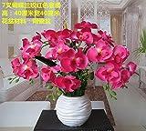 GBHNJ Artificial Flowers GBHNJ False Rot Schmetterling Orchidee Deko Vase Künstliche Fe