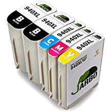 JARBO Compatible 940xl Ink Cartridges Compatible with Officejet Pro 8000 Wireless, 8000AIO, 8000W, 8500, A809, A909a, A909g, A909n, 8500A e-All-in-One Plus, All-in-One 8500AIO, 8500W (2 Black,1 Cyan,1 Magenta,1 Yellow)