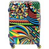 "Aerolite Medium 25"" Lightweight Polycarbonate Hard Shell 4 Wheel Hold Check in Luggage"