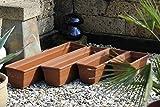 Pflanzkasten,Blumenkasten,Balkonkasten,2er Set!!mit Wasserspeicher;Kunststoff,terracotta 80cm