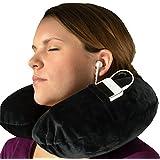 Almohada de cuello – Almohada de viaje inflable, incluyendo un antifaz y tapones para los oídos – de Globeproof®