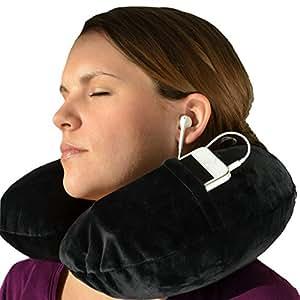 Cuscino per Collo da Viaggio Gonfiabile | Incl. Maschera per Dormire e Tappi per le Orecchie – di Globeproof®
