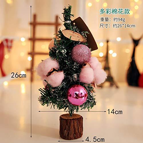 Pendant & Drop Ornaments - Brand 26cm Christmas Tree Desk Table Decoration Mini Doll Bowknot Ball Xmas Gift Home Decorations - Miniature Mini Mini Toy Kit Shoe Dollhouse Furniture Wooden Furnitu -
