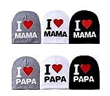 Design Freunde Mütze Kopfbedeckung Beanie Wintermütze Herbstmütze Babymütze Kindermütze (Grau I Love Papa)