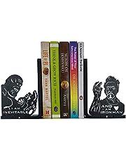 HeavenlyKraft Heavyduty Decorative Metal Bookends for Shelves Decorative Metal Bookend, Non Skid Book End, Book Stopper for Home/Office Decor/Shelves, 5.9 X 3.9 X 3.14 Inch Per Piece
