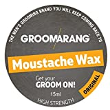 Groomarang Moustache & Beard Wax Extra Strong Original 100% Natural Hair Care Organic & Vegan 15ml