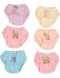 1stbabystore Products Presents New Born Infant Baby Kids Inner Wear brief Unisex Printed Cotton Baby panty 100% Cotton Housiry With Cartoon Print Brief Cotton Vest Top Underpants Cool Soft & Cozy infant Baby Girl's & Boy's Panties,bloomer,boxers,innerwear,Drawer Pack of 6 pcs (Light coloured size Extra Large)