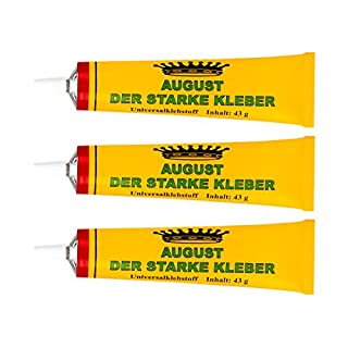 August Der Starke Kleber Universalklebstoff - 3 x 43 g