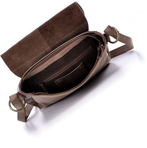 MASQUENADA, Cntmp, Donna, Borsa a tracolla, Borse a mano, Borsa a spalla, In Pelle Naturale, 26 x 22 x 8 cm marrone