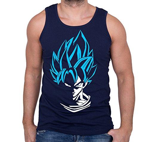 GIOVANI & RICCHI Herren Super Son Goku Blaue Haare Tank Top Fitness Shirt in verschiedenen Farben