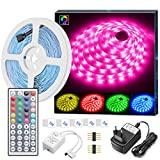 MINGER LED Strip Lichtband, 5M LED Streifen RGB SMD...
