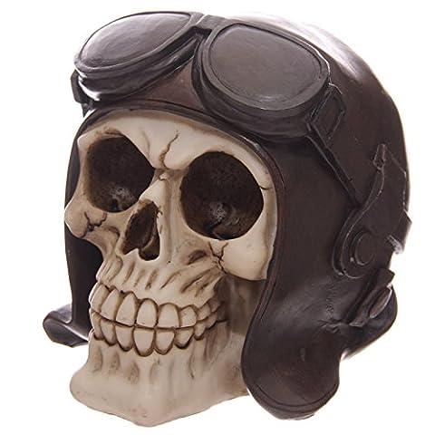 Statuette Crâne gothique pilote