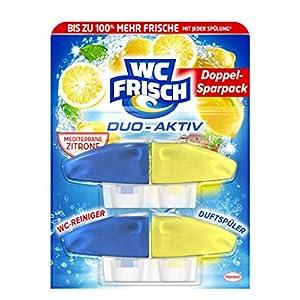 WC Frisch Duo Aktiv Duftspüler Lemon Nachfüllpack, 2 Stück