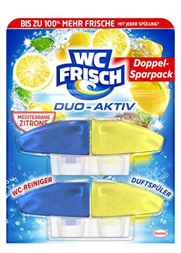 WC Frisch Duo Aktiv Duftspüler Lemon Nachfüllpack, 4er Pack (4 x 2 Stück)