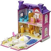 little Doll house-DIY villa Creative Room with Furniture&backyard set