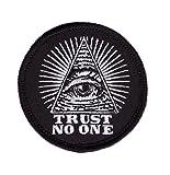 Trust No One Eye of Providence Masonic Anarchy Patch Iron on Traue Niemandem Auge der Vorsehung Freimaurer Anarchie Aufnäher Aufbügler Patch