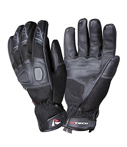 Sommer Handschuhe R - Tech Leder + Stretch Stoff Cycle Motorrad Weiches Futter Sommer Handschuhe mit Knöchelschutz