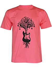 PALLAS Unisex's Guitar Tree Graphic Art T Shirt
