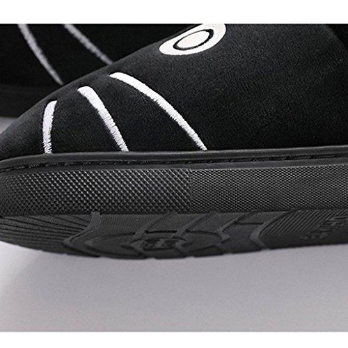 Nero Di Invernale Antiscivolo Pantofole Carino Fumetto Disegno Cotone Pantofole Femmina Dww B Scarpe Calde ETvHqCw