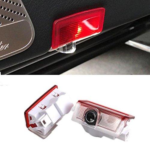 k Autotür türbeleuchtung Mercedes logo KFZ Türen Einstiegsbeleuchtung LED Laser Projektor Door Willkommen Logo Projektion Lichter für Mercedes-Benz E W212 A W176 W205 GL X164 ()