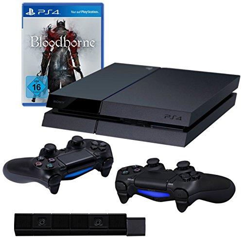 PlayStation 4 – Konsole (500GB) inkl. Bloodborne + 2 DualShock 4 Wireless Controller + Kamera