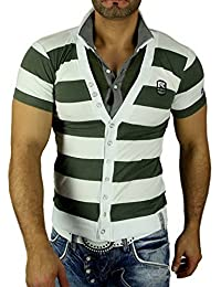 Rusty Neal Polohemd 5019 T-Shirt mit V-Neck gestreift Polo T-Shirt Hemd NEU, Größe:XL, Farbe:Grün