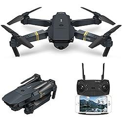 drone con camara hd, EACHINE E58 drones para niños Quadcopter gran angular de 2.0MP 720P Control de AlturaVuelo de Trayectoria Mini Drone Drone Plegable Drone cámara WIFI