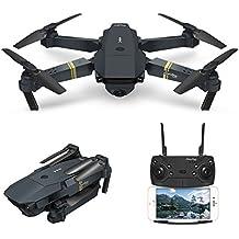 Drone con Telecamera, EACHINE E58 Pieghevole Droni con WIFI FPV HD 720P APP Mobile Controllo Grandangolare Selfie Drone Modalità di Attesa in Altitudine