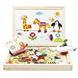 Lewo Forest Animals Magnetic Wooden Multifunction Drawing Toys Board