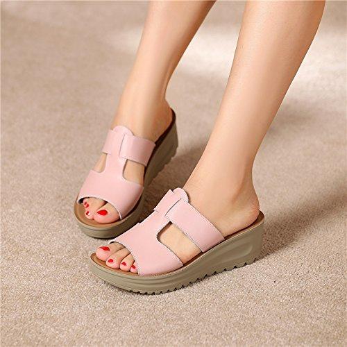 ZPPZZP Ms sandali pantofole pendenza con il drag and drop piatta con 39EU