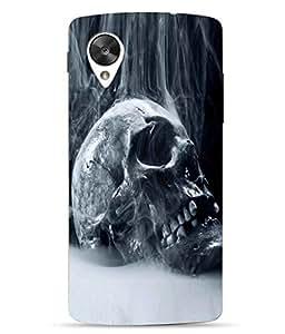 Case Cover Skull Printed Blue Hard Back Cover For LG Google Nexus 5