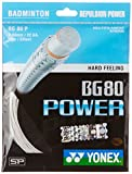 Yonex BG80 Power Badminton Strings, 0.68mm (White)