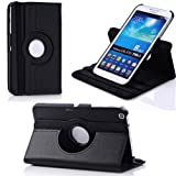 Ascension 360 Degree Multi Angle Rotating Cover Case for Samsung Galaxy Tab 3 8.0 8-inch Tablet SM-T3100 BLACK