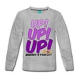 Spreadshirt Bibi und Tina Star Edition UP UP UP Kinder Premium Langarmshirt, 134/140 (8 Jahre), Grau meliert