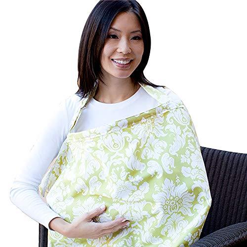QEES Echarpe d'allaitement Nursing Cover Couvertures d'allaitement Pour Maman Rose