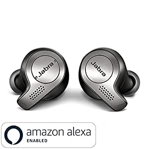 Jabra Elite 65T True Wireless Bluetooth Earbuds with Charging Case and One Touch Amazon Alexa (Titanium Black)