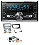 caraudio24 Kenwood DPX-5100BT Aux CD 2DIN MP3 Bluetooth USB Autoradio für Seat Altea XL Altea Toledo Silber