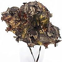 3d hojas camuflaje Ghillie sombreros al aire libre protección solar pesca caza cap sombrero de ala ancha tapa
