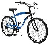 Critical Cycles 2369 Chatham Strand Cruiser für Herren - Blau/Schwarz, 7-Gang/26 Zoll