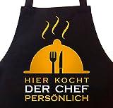 Grillschürze Kochschürze Hier kocht der Chef persönlich