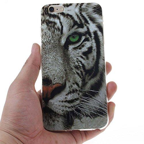 Coque étui Pour Apple iPhone 6 6S 4.7 Ultra Fine Slim Case Poids léger Flexible TPU Gel Anti Choc Peinture Motif Tigre Couleur-2