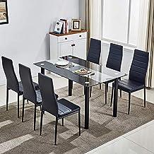 Amazon.es: juego de comedor mesa y 6 sillas